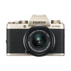Fuji X-T100 gold + XC 15-45mm