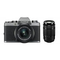 Fuji X-T100 silber + XC 15-45mm +50-230mm