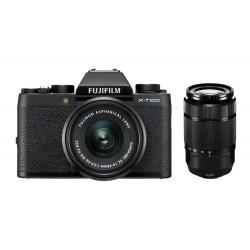 Fuji X-T100 schwarz + XC 15-45mm +50-230mm
