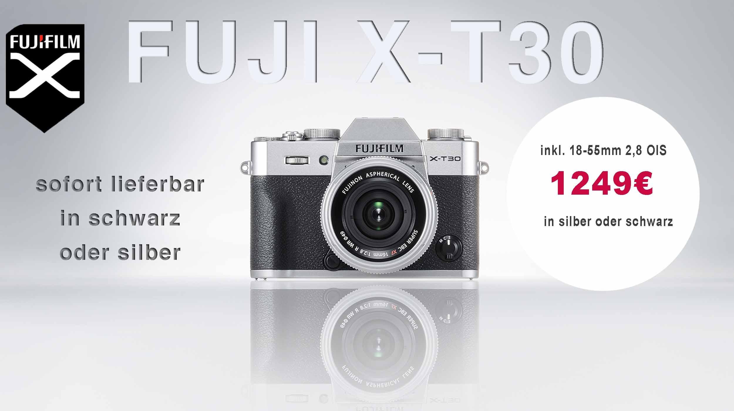 Fuji X-T 30 jetzt vorbestellen versandkostenfrei geliefert